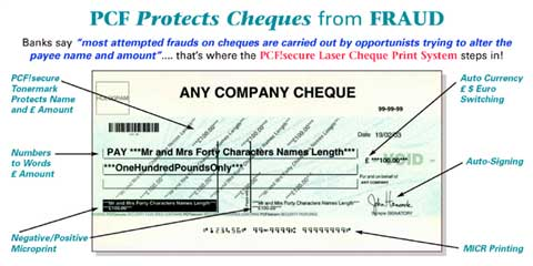 PCF!secure LaserCheque Printing